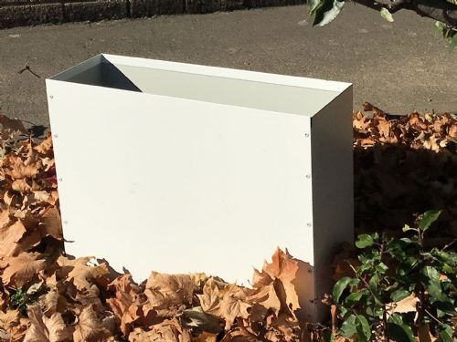 White Painted Box Style Planter 60cm x 45cm x 20cm
